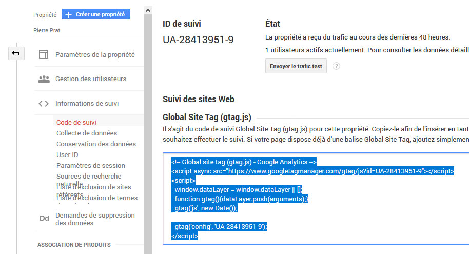 Global Site Tag - Google Analytics